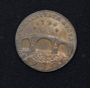 Trade Token with image of Beccles Bridge